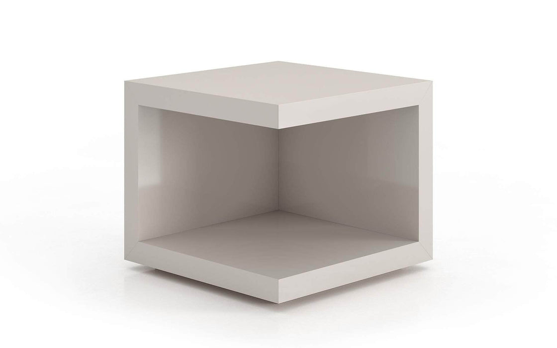Pending - Modloft Side Tables Glossy Chateau Gray Ludlow Side Table - Available in 3 Colors