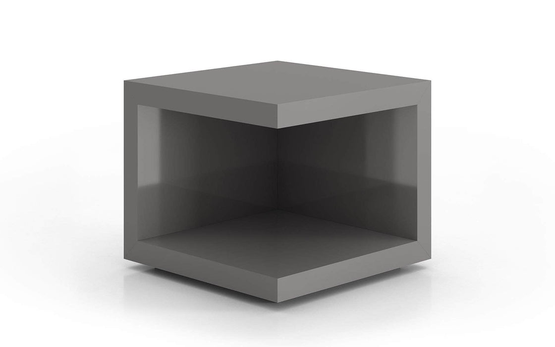 Pending - Modloft Side Tables Glossy Dark Gull Gray Ludlow Side Table - Available in 3 Colors
