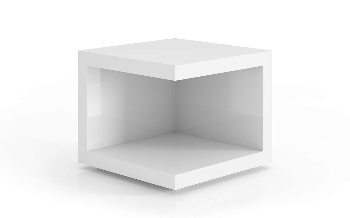 Pending - Modloft Side Tables Glossy White Ludlow Side Table - Available in 3 Colors