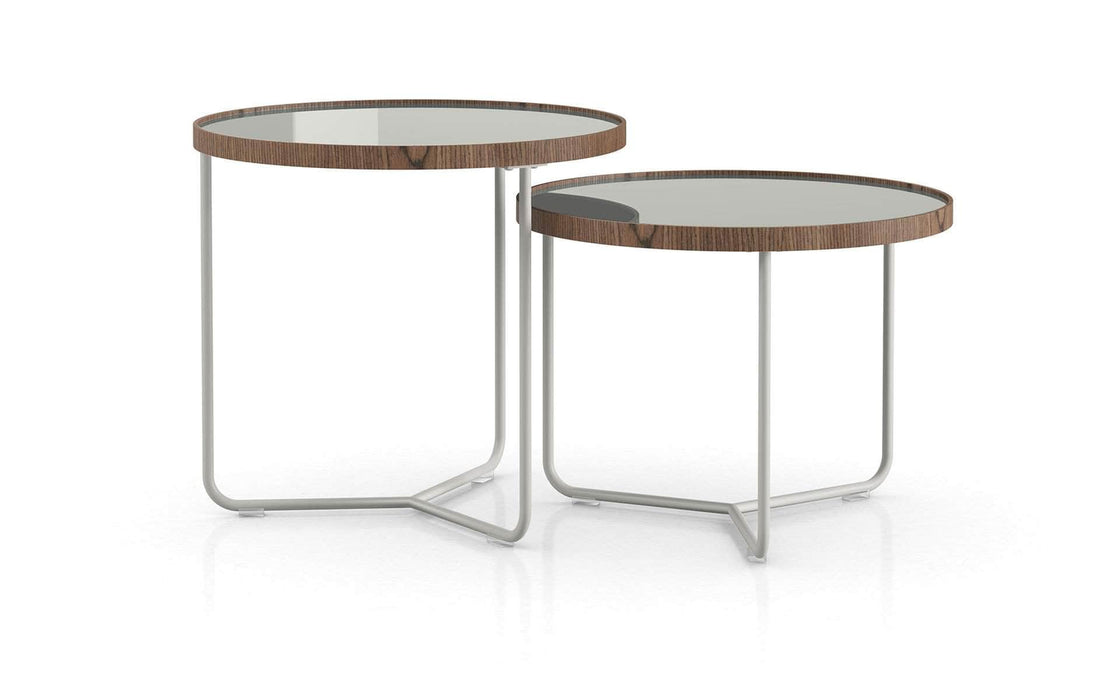 Pending - Modloft Side Tables Ice Glass Adelphi Nesting Side Tables - Available in 4 Colors