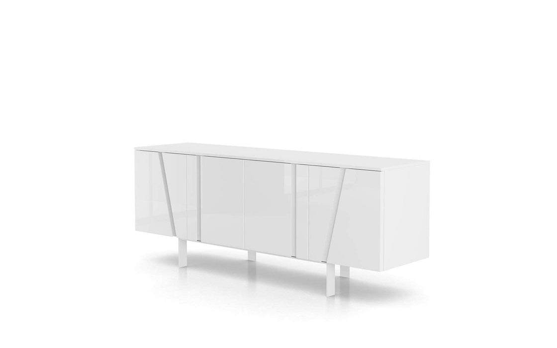 Pending - Modloft Sideboards Glossy White Mott Sideboard - Available in 4 Colors