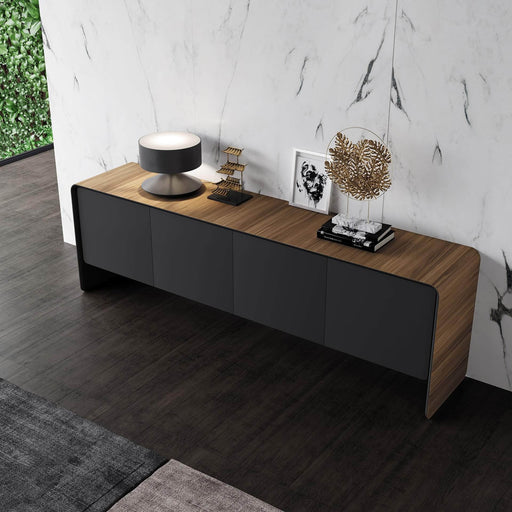 Pending - Modloft Sideboards Kenley Sideboard in Walnut and Graphite