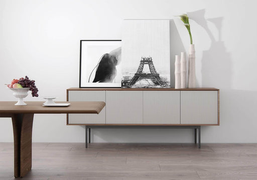 Pending - Modloft Sideboards Sutton Sideboard in Walnut and Matte Chateau Gray