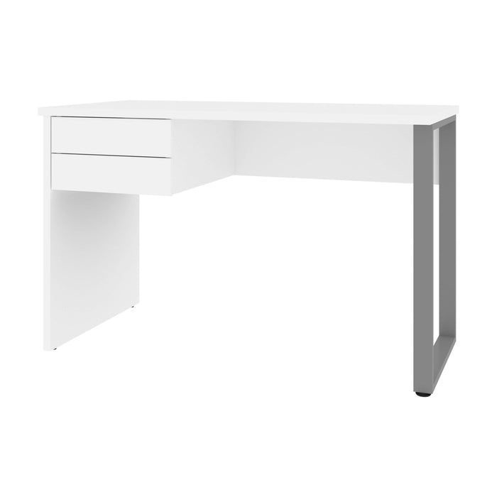 Bestar Desks White Solay 48W Small Table Desk With U-Shaped Metal Leg - Available in 2 Colors