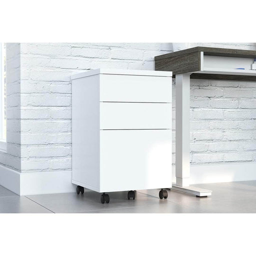 Bestar File Cabinet Universel Assembled Mobile Pedestal With 3 Drawers - Available in 2 Colors