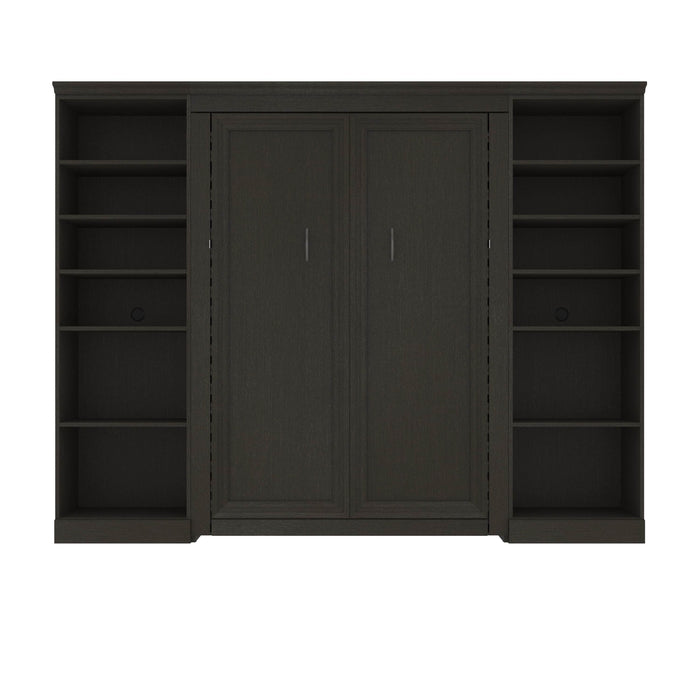 Bestar Murphy Beds Versatile Full Murphy Bed With Shelving Units - Available in 2 Colors