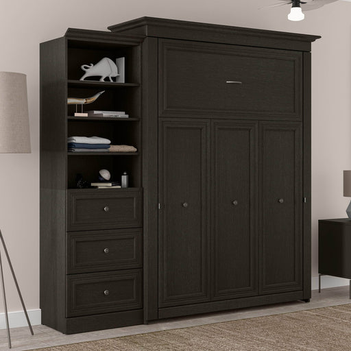 Bestar Murphy Beds Versatile Queen Murphy Bed And Shelving Unit With 3 Drawers - Available in 2 Colors