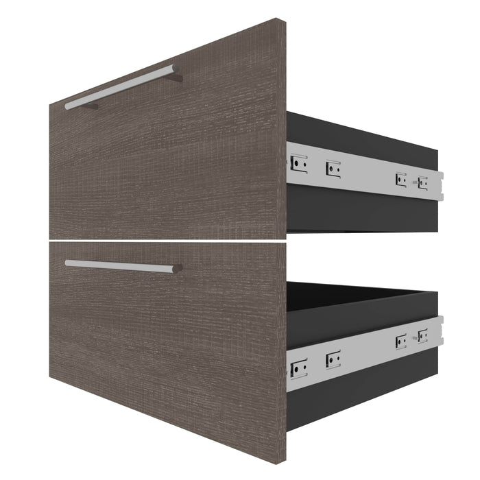 Bestar Storage Drawers Orion 2 Drawer Set For Orion 20W Narrow Shelving Unit - Available in 2 Colors