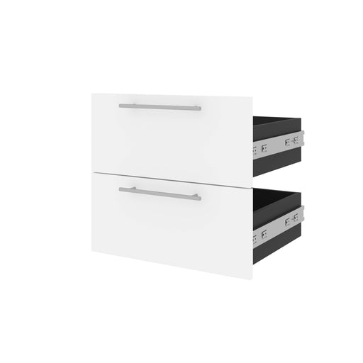 Bestar Storage Drawers White & Walnut Grey Orion 2 Drawer Set For Orion 20W Narrow Shelving Unit - Available in 2 Colors