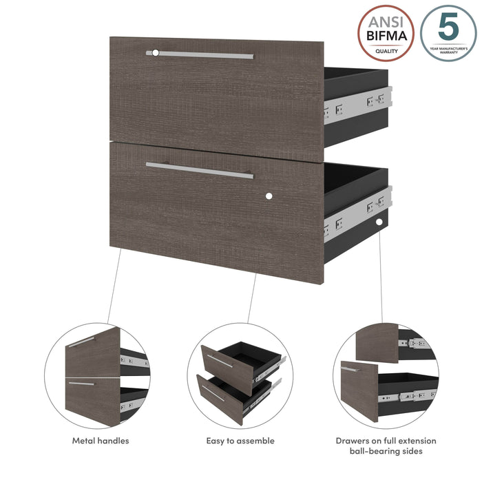Bestar Storage Orion 2 Drawer Set For Orion 20W Narrow Shelving Unit - Available in 2 Colors