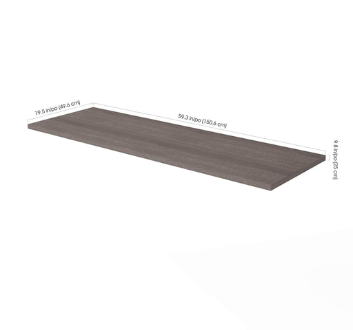 i3 Plus Desk Bridge - Bark Grey - Dimensions