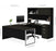 Pending - Priority Bestar Bestar Pro-Concept Plus U-shaped desk with pedestal and hutch - Deep Grey & Black