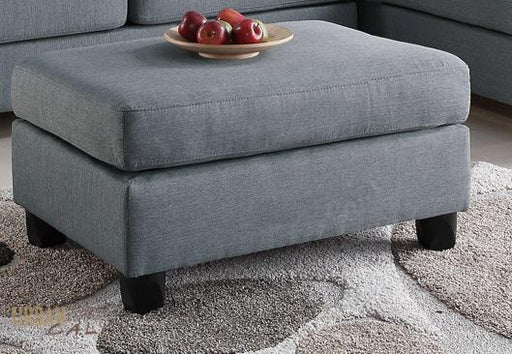 San Francisco Grey Linen Ottoman-Wholesale Furniture Brokers