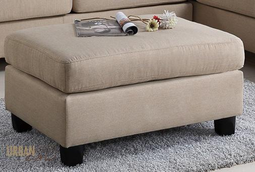 San Francisco Sand Linen Ottoman-Wholesale Furniture Brokers
