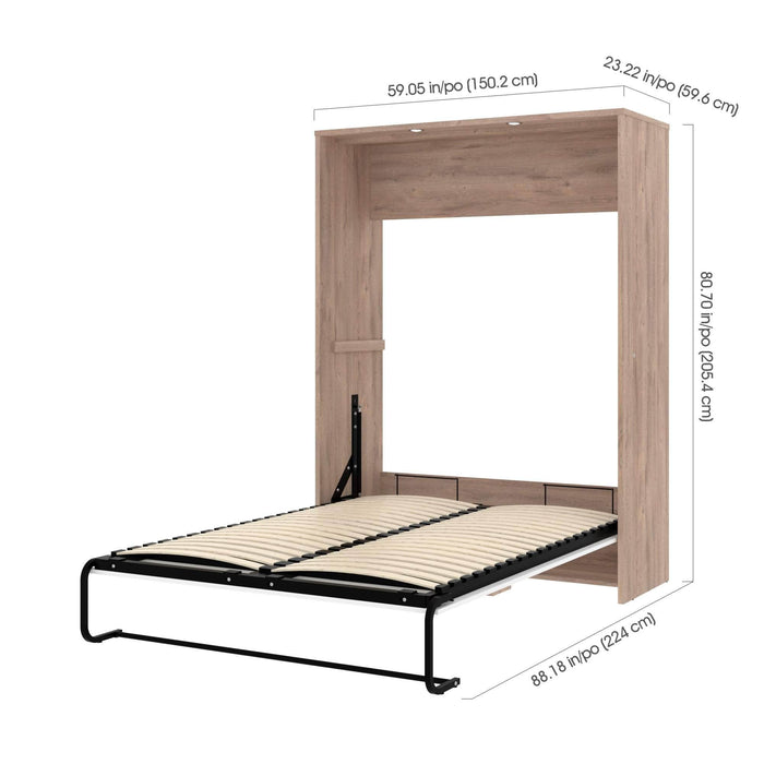 Cielo 59W Full Murphy Wall Bed - Available in 2 Colors