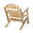 Outdoor Cedar White Cedar Arm Chair - Natural Cedar