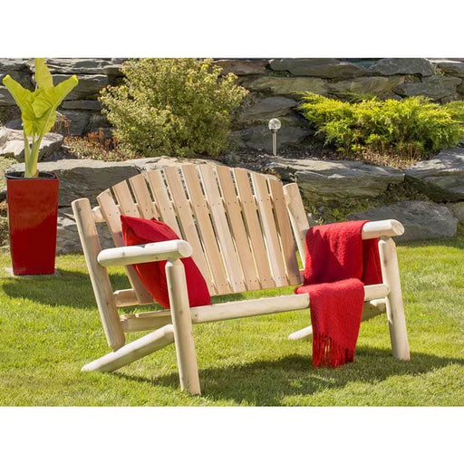 Outdoor Cedar White Cedar 4' Settee - Natural Cedar