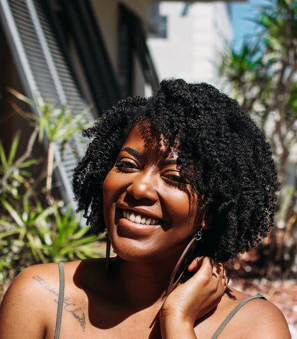Black Girl With Afro Smiling