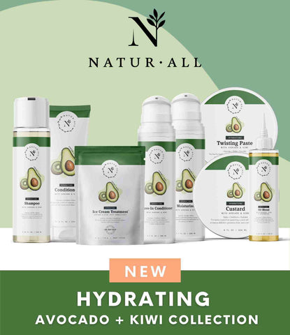 naturall hair care brand avocado kiwi hydrating line new collection