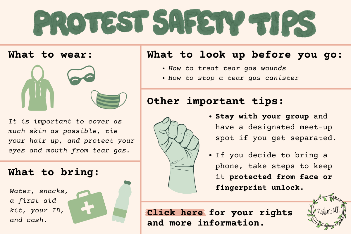 protest safety tips naturall club