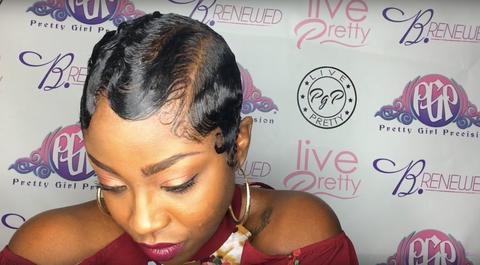 natural hair finger waves