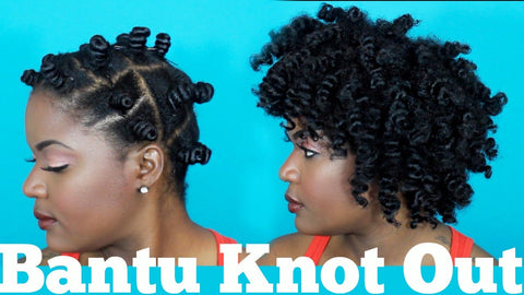 bantu knot out for stretched hair