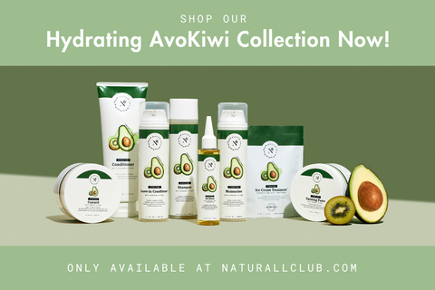 hydrating avokiwi hair product collection