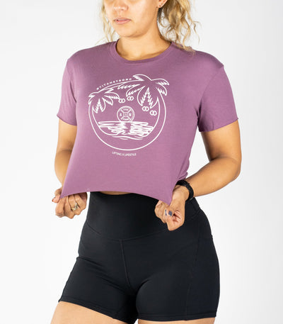 Palms Crop Tee - Titan