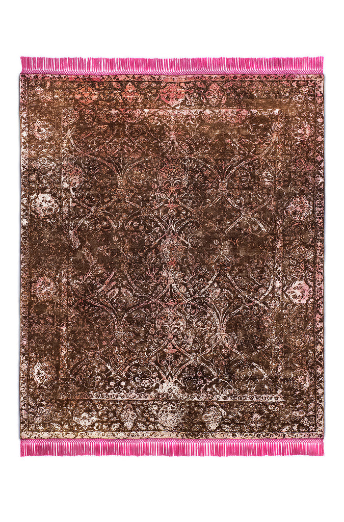 Rajasthan No. 03 Zero Pile Natural Brown Eye Candy Pink BS
