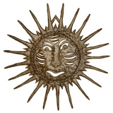 Smile or a Smirk - Sun face - Haitian Metal Art Handmade from Repurposed Steel Drums - Snazzy Bazaar