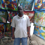 Wilphane, Jean - Haitian Acrylic Artist - Acrylic on Canvas - Haitian Life People Market Food Color - Snazzy Bazaar