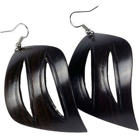 African Blackwood Leaf Earrings-Snazzy Bazaar