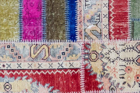 All About Anatolia   Vintage Patchwork Rug Snazzy Bazaar