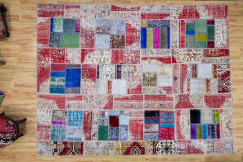All About Anatolia - Vintage Patchwork Rug-Snazzy Bazaar