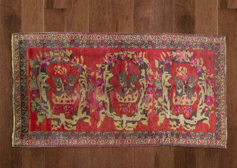 Altı Kedi - Vintage Turkish Carpet-Snazzy Bazaar