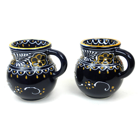 Ceramic Beaker Mug - Azul Marino - Set of Two-Snazzy Bazaar