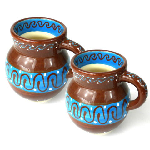 Ceramic Beaker Mug - Cacao Rico - Set of Two-Snazzy Bazaar