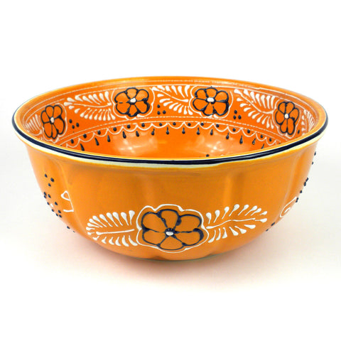 Ceramic Large Salad Bowl - Amarillo-Snazzy Bazaar