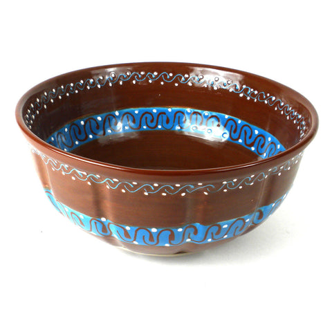 Ceramic Large Salad Bowl - Cacao Rico-Snazzy Bazaar