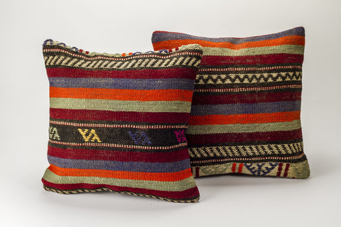 Cushion Cover Pair - Unknown Name-Snazzy Bazaar