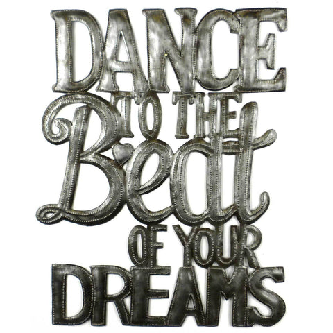 Dance to the Beat of Your Dreams - Haitian Metal Wall Art-Snazzy Bazaar