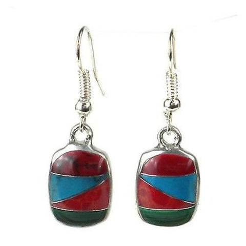 Diagonal Stone Drop Earrings-Snazzy Bazaar