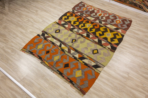 Diamonds & Hearts - Vintage Kilim-Snazzy Bazaar