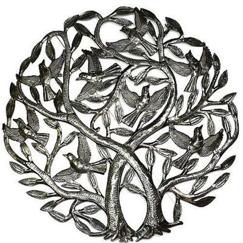 Double Tree of Life - Haitian Metal Wall Art-Snazzy Bazaar