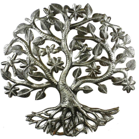Dragonfly Tree of Life - Haitian Metal Wall Art-Snazzy Bazaar