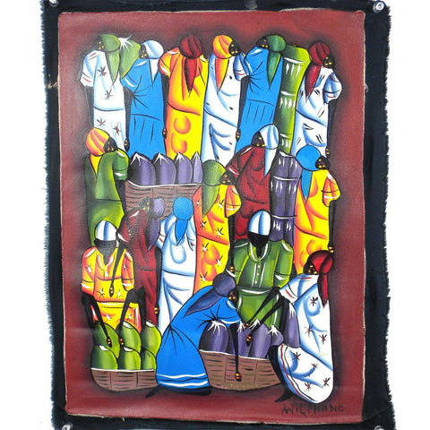 Haitian Acrylic Painting on Canvas - Color of Life-Snazzy Bazaar