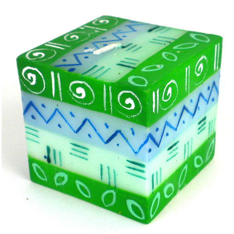Hand-Painted Cube Candle - Farih-Snazzy Bazaar