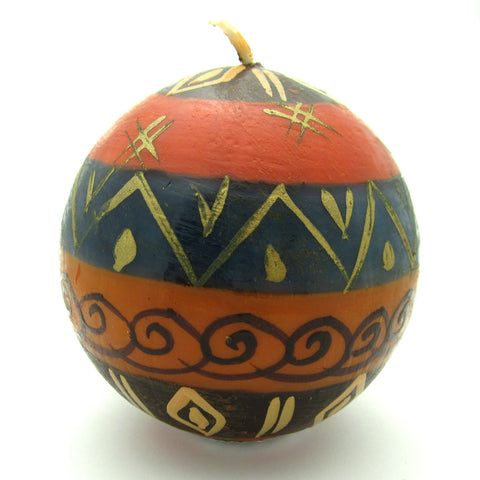 Hand-Painted Round Candle - Bongazi-Snazzy Bazaar