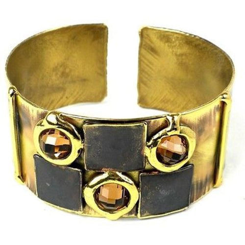 Handcrafted Showplace Brass Cuff-Snazzy Bazaar