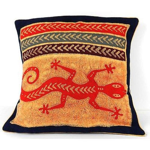 Handmade Colorful Lizard Cushion Cover-Snazzy Bazaar